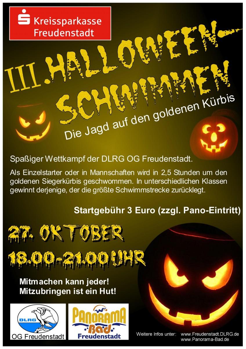 Freudenstadt im Schwarzwald | 3. Halloween– Schwimmen im Panorama–Bad