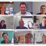 Digitale Kommunikation von Menschen per Frontkamera