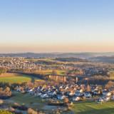 Panoramabild aus der Luft von Grüntal