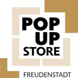 mehrere Rahmen übschließen quadratisch die Worte Pop-up Store Freudenstadt