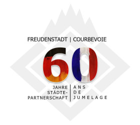 """Logo """"60 Jahre Freudenstadt-Courbevoie"""""""
