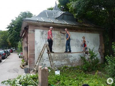 Erhaltungsarbeiten am Rappen-Pavillon
