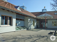 Innenhof eines Gebäudes