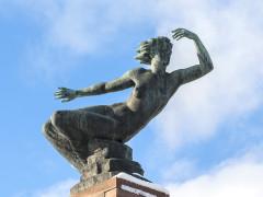 """Eine Nahaufnahme der Skulptur """"Venus"""" von David Fahrner"""