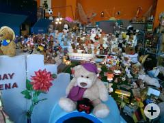 Viele Teddybären in der Teddy-Oldiethek