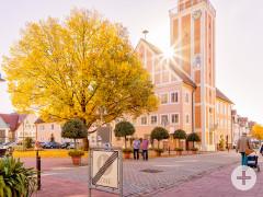 Blick auf das Rathaus von hinten