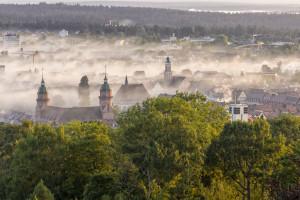 Blick auf Freudenstadt am Morgen