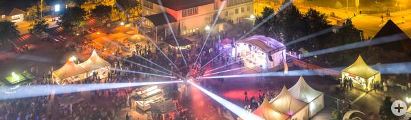 Lasershow beim Sommernachtsfest 2019 in Freudenstadt