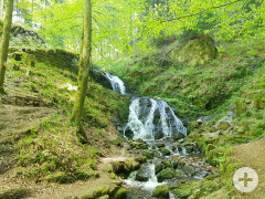 Wasserfall am Himmelssteig in Bad Peterstal