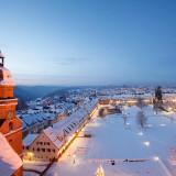 Der Blick vom Kirchturm im Winter