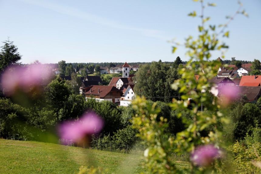 Blick auf den Stadtteil Wittlensweiler