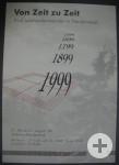 Ausstellungsflyer aus dem Jahre 1999