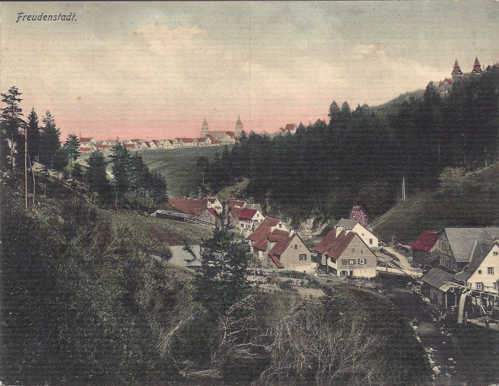 Ansicht auf Freudenstadt